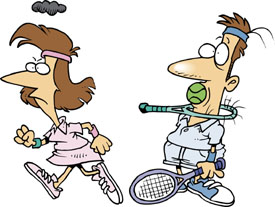 Retirement Jokes Image - Tennis Game